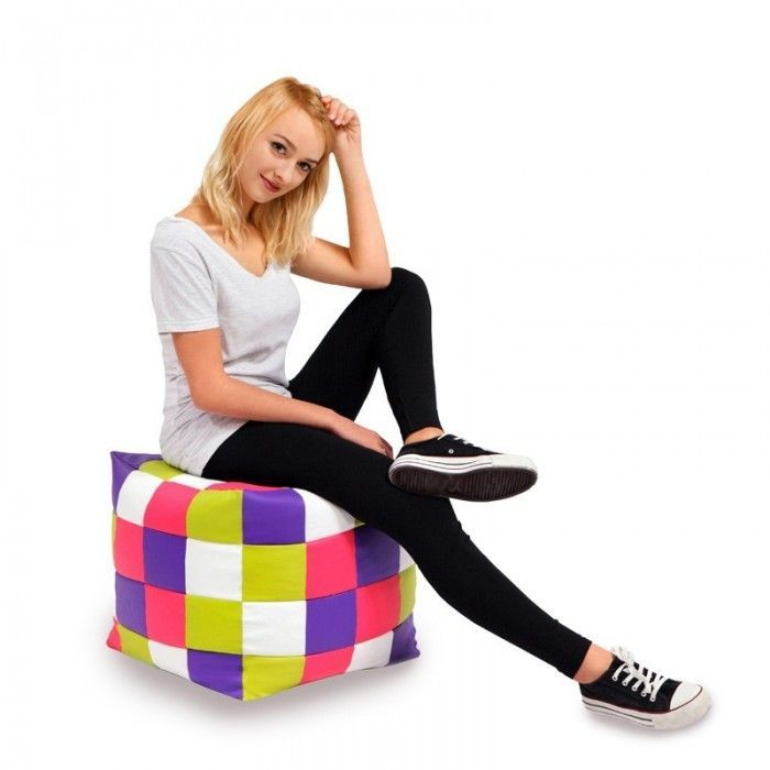 PUF CUBO PATCHWORK
