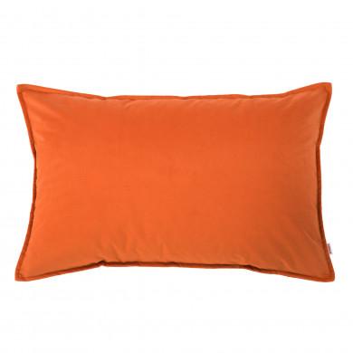 Prostokątna Poduszka Pomarańczowa Pluszowa