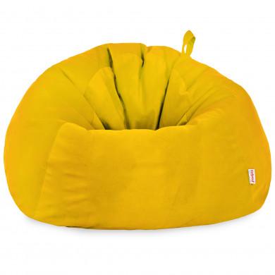 Żółty Worek Do Siedzenia Dla Dzieci XXXL Alcantara