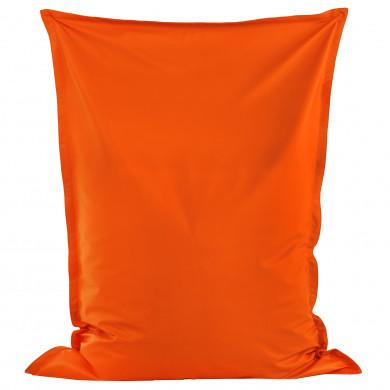 Pomarańczowa Poducha XL Siedzisko Ekoskóra