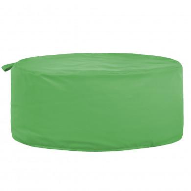 Zielona Pufa Okrągła Siedzisko Ekoskóra