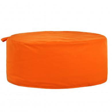 Pomarańczowa Pufa Okrągła Dziecięca Ekoskóra