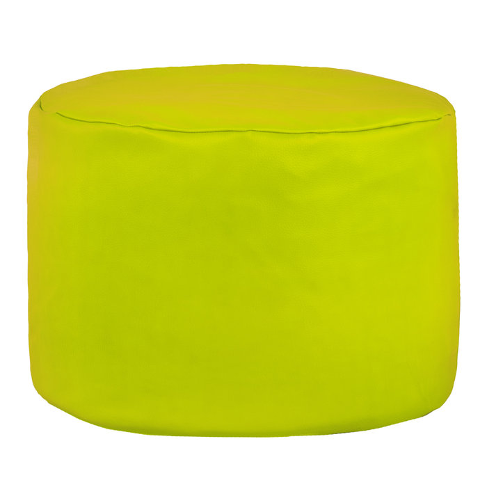Limonkowa Pufa Do Siedzenia Puff Ekoskóra Cilindro