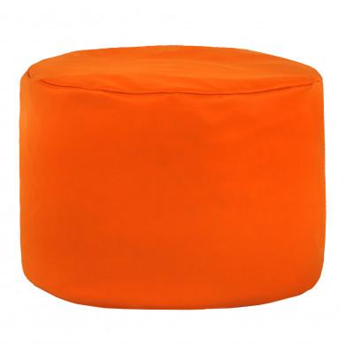 Pomarańczowa Pufa Dla Dzieci Ekoskóra Cilindro