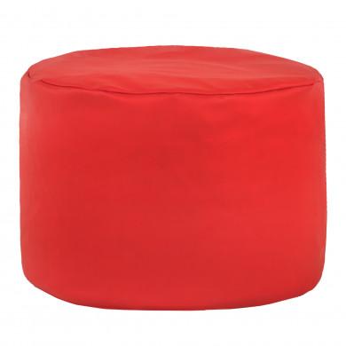 Czerwona Pufa Do Siedzenia Ekoskóra Cilindro