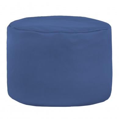 Niebieska Pufa Do Sypialni Ekoskóra Cilindro