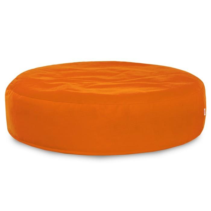Pomarańczowa Poducha Okrągła Siedzisko Plusz