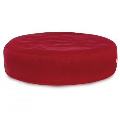 Czerwona Poduszka Okrągła Siedzisko Plusz