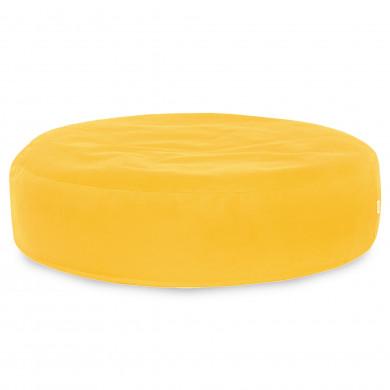 Żółta Poduszka Okrągła Dla Dzieci Plusz