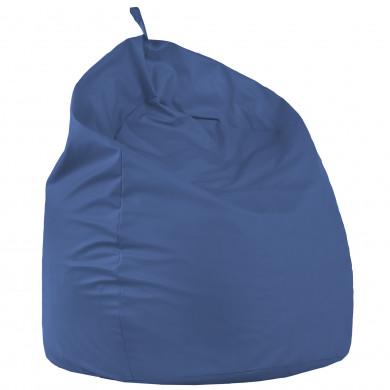 Niebieski Worek Pufa XXL Fotel Do Leżenia