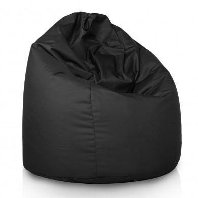Czarny Worek Fotel XXL Outdoor Relaksacyjny