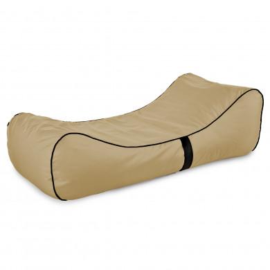 Pufa Lounge Chaise Beżowa Na Zewnątrz