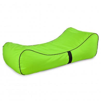 Pufa Lounge Chaise Limonkowa Na Taras