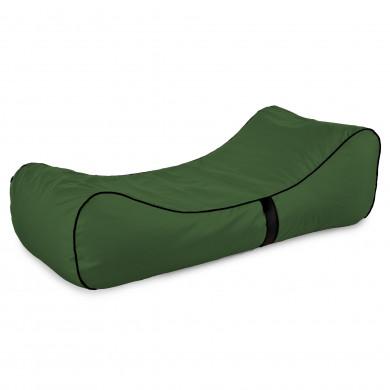 Pufa Do Leżenia Lounge Chaise Ciemnozielona Nylon