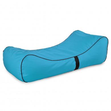 Pufa Lounge Chaise Niebieska Na Zewnątrz