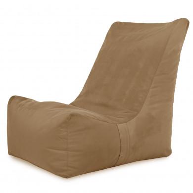 Beżowy Nowoczesny Fotel Sako Do Siedzenia