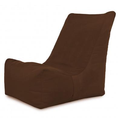 Kakaowy Nowoczesny Fotel Wypoczynkowy Sako