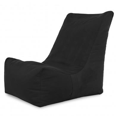 Czarny Nowoczesny Fotel Do Salonu Alcantara