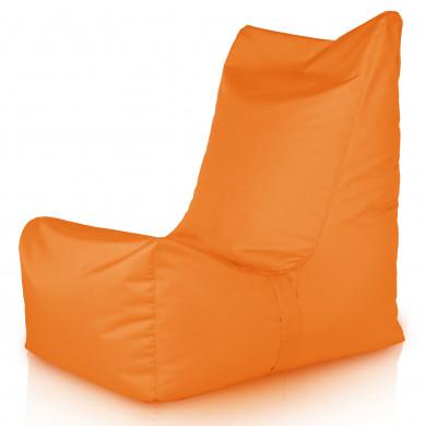 Pomarańczowy Fotel Ogrodowy Leżak Plażowy