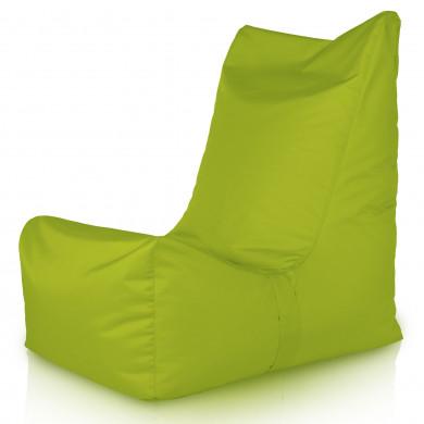 Limonkowy Fotel Ogrodowy Jednoosobowy Outdoor