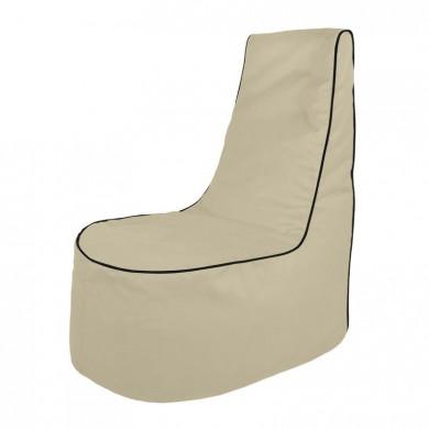 Perłowy Wygodny Fotel Sako Do Siedzenia