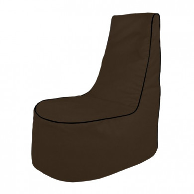 Kakaowy Wygodny Fotel Wypoczynkowy Alcantara