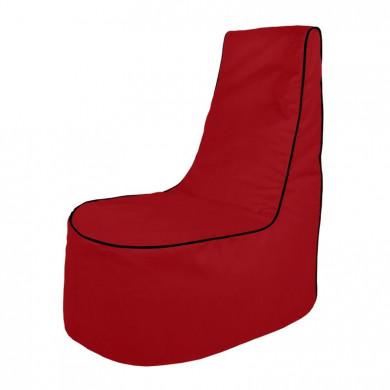 Czerwony Wygodny Fotel Do Salonu Alcantara