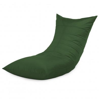 Ciemnozielony Fotel Leżak Jednoosobowy Outdoor