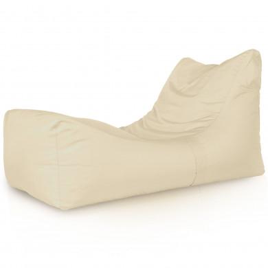 Kremowa Leżanka Ogrodowa Fotel Relaksacyjny