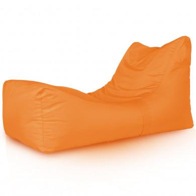 Pomarańczowa Leżanka Ogrodowa Fotel Nowoczesny