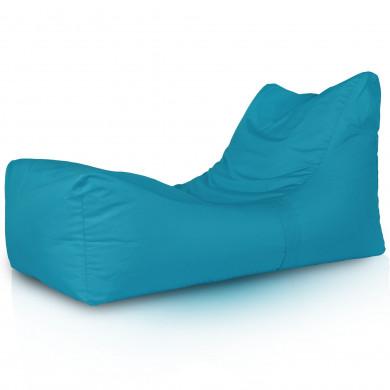 Niebieska Leżanka Ogrodowa Relaksacyjny Fotel