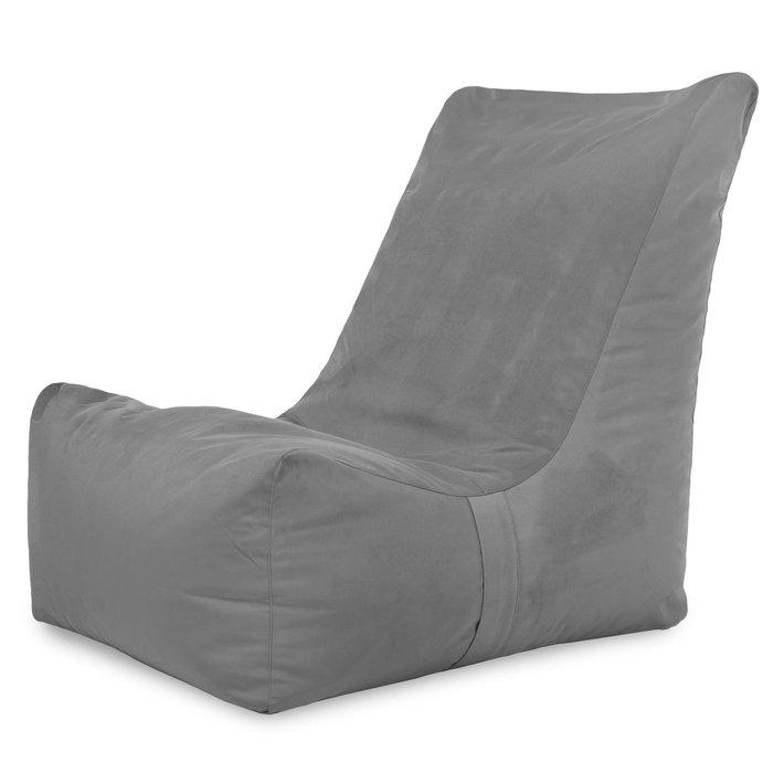 Stalowy Plusz Nowoczesny Fotel Jednoosobowy