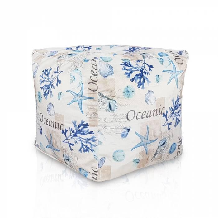 Nowoczesna Pufa Ocean Kwadratowa Cubo