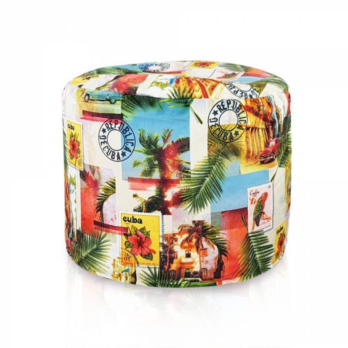 Kolorowa Pufa Cuba Cilindro