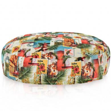 Okrągła Kolorowa Poduszka Cuba