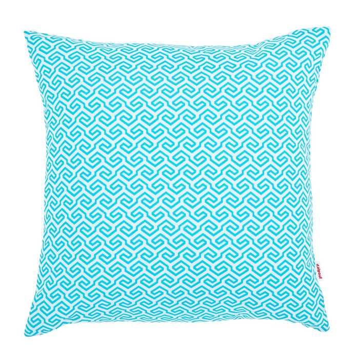 Poduszka Outdoor Biało Niebieski Wzór Z Filtrem UV