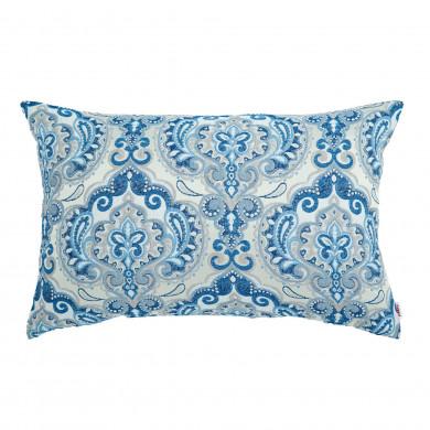 Poduszka Niebieska Prostokątna Wzór Orientalny