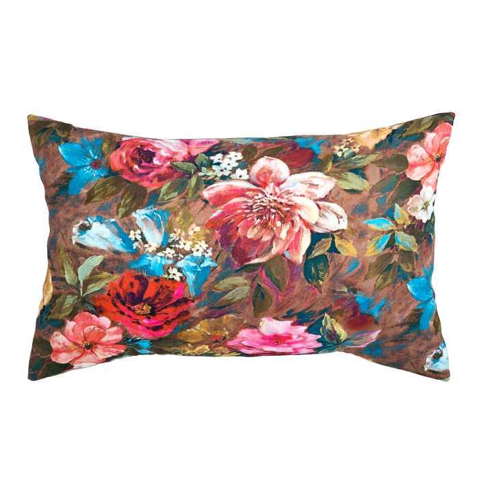 Poduszka Ozdobna Prostokątna Kolorowe Kwiaty
