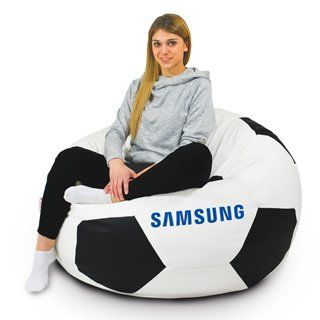 bean bag with logo